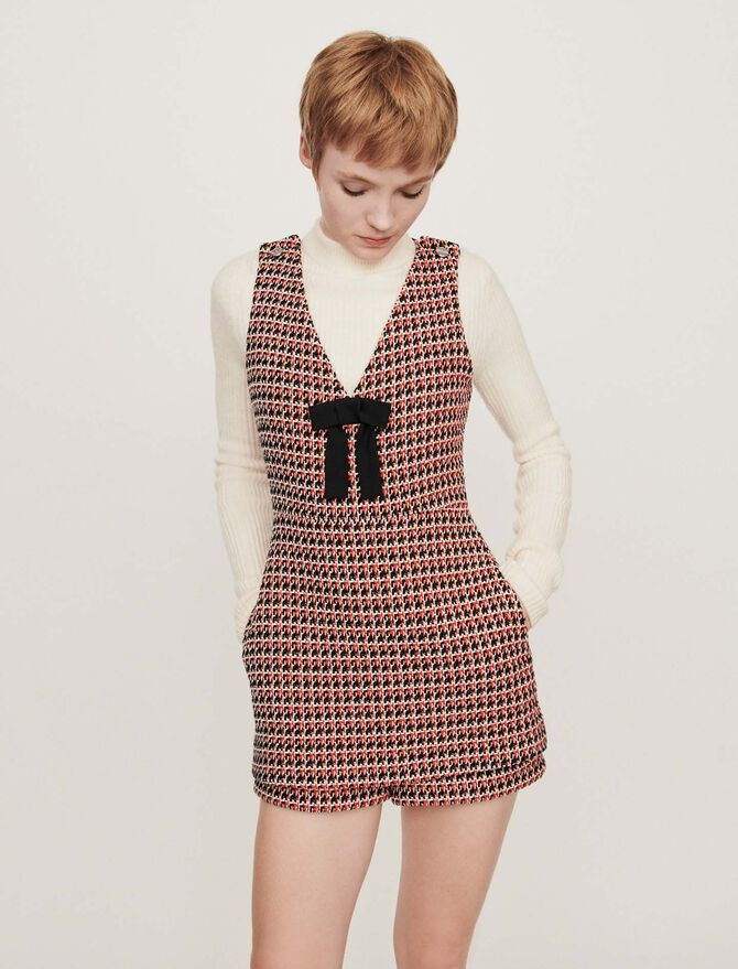 Combinaison-short façon tweed - Robes - MAJE