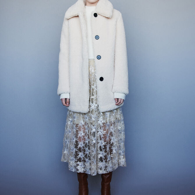 Faux fur coat - See all - MAJE