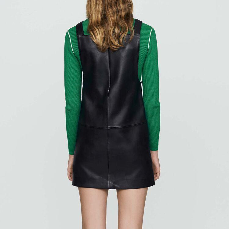 Robe chasuble en cuir : Robes couleur Black