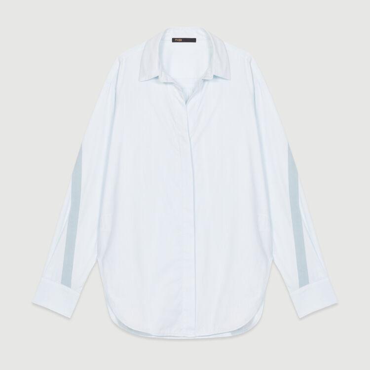 Chemise oversize avec gros-grain : Chemises couleur Bleu Ciel