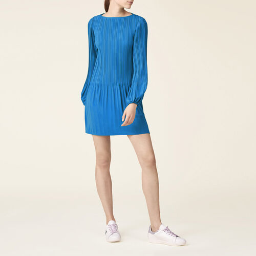 Pleated dress : Dresses color Blue