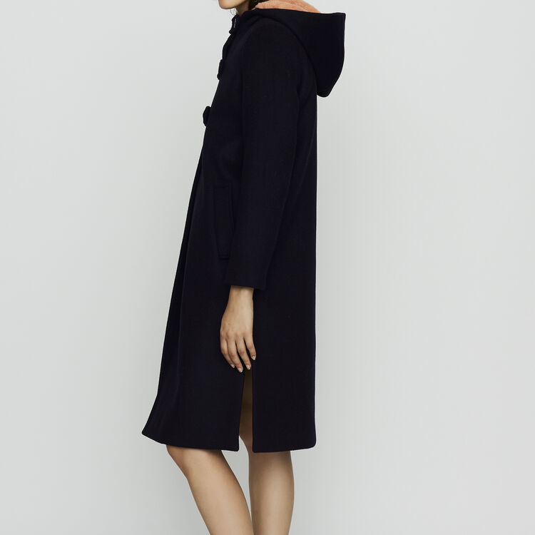 Manteau long  doublée de fausse fourrure : Manteaux couleur Black