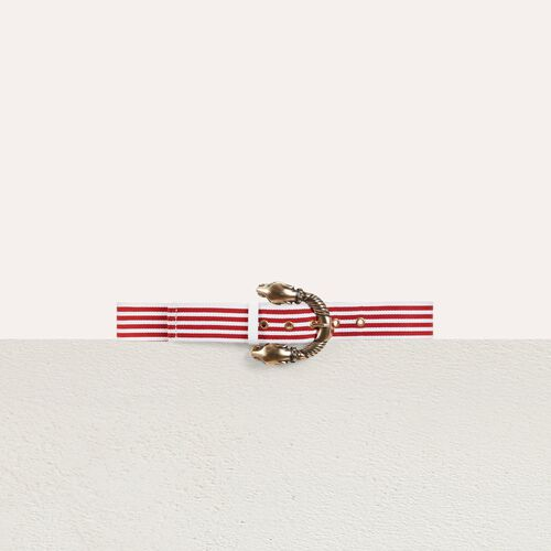 Striped cotton belt : Belts color Red