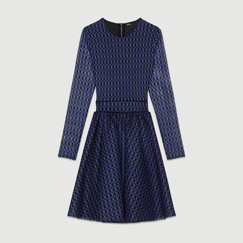 Robe patineuse en maille basket : Robes couleur VIOLET