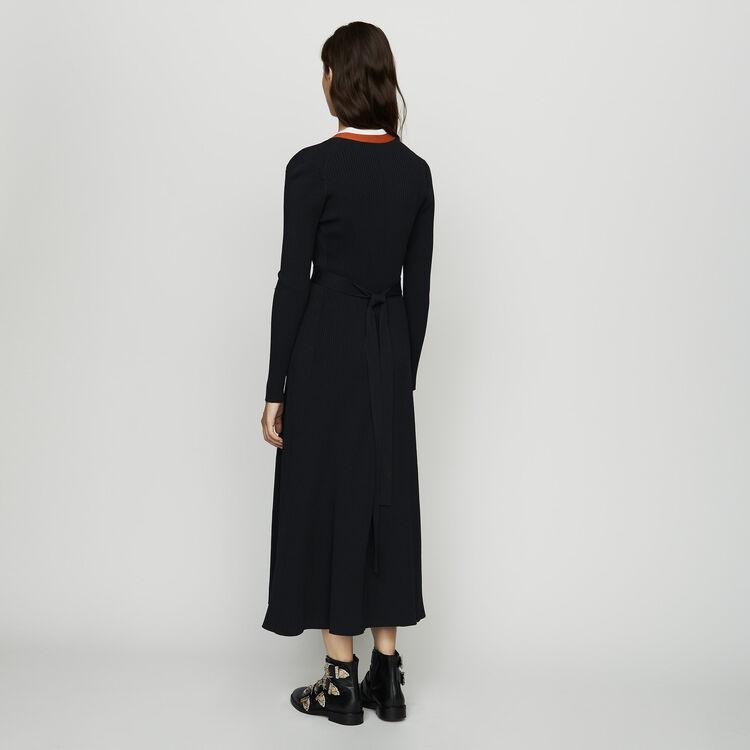 Robe cache-cœur en maille : Tout voir couleur Black