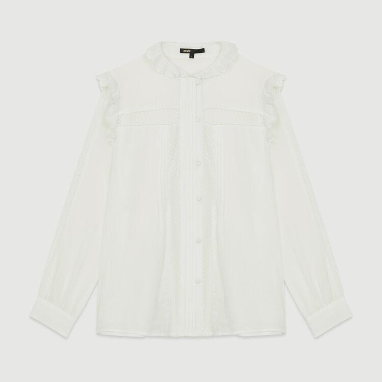 Chemisier en voile de coton : Chemises couleur Blanc