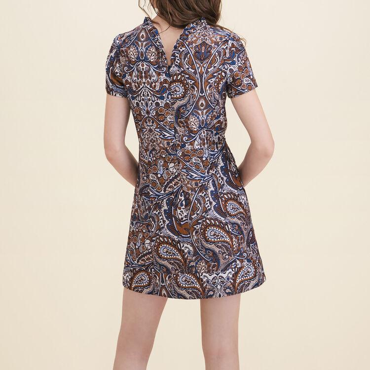 Robe droite en jacquard : Robes couleur Jacquard