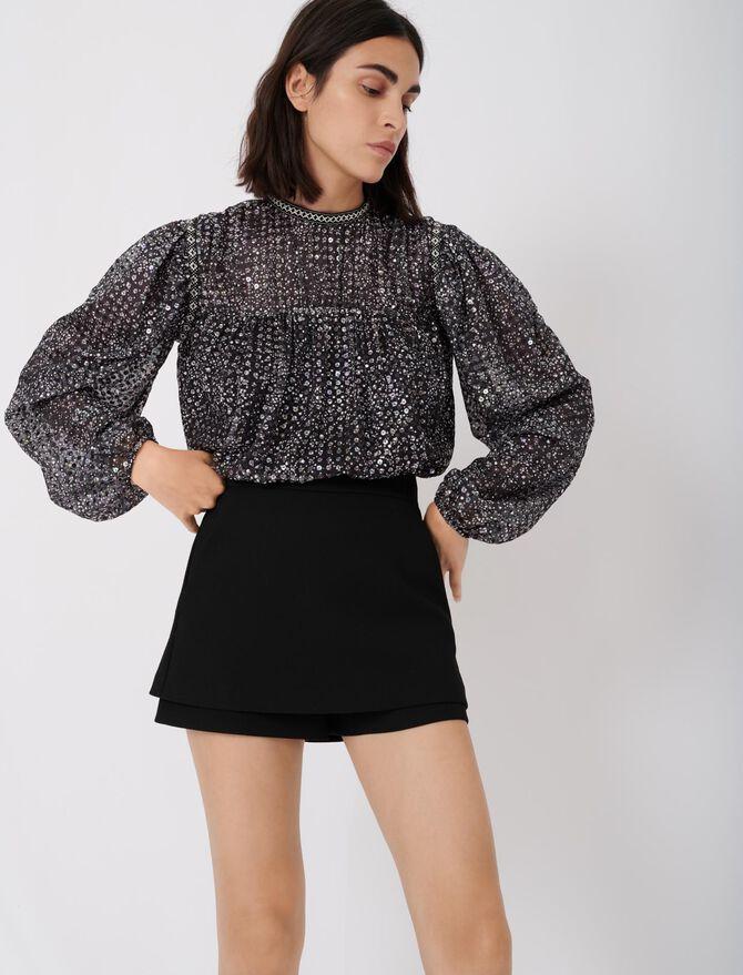 Short-jupe en crêpe - Jupes & Shorts - MAJE