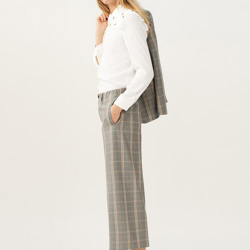 Wide checkered pants : Trousers & Jeans color CARREAUX