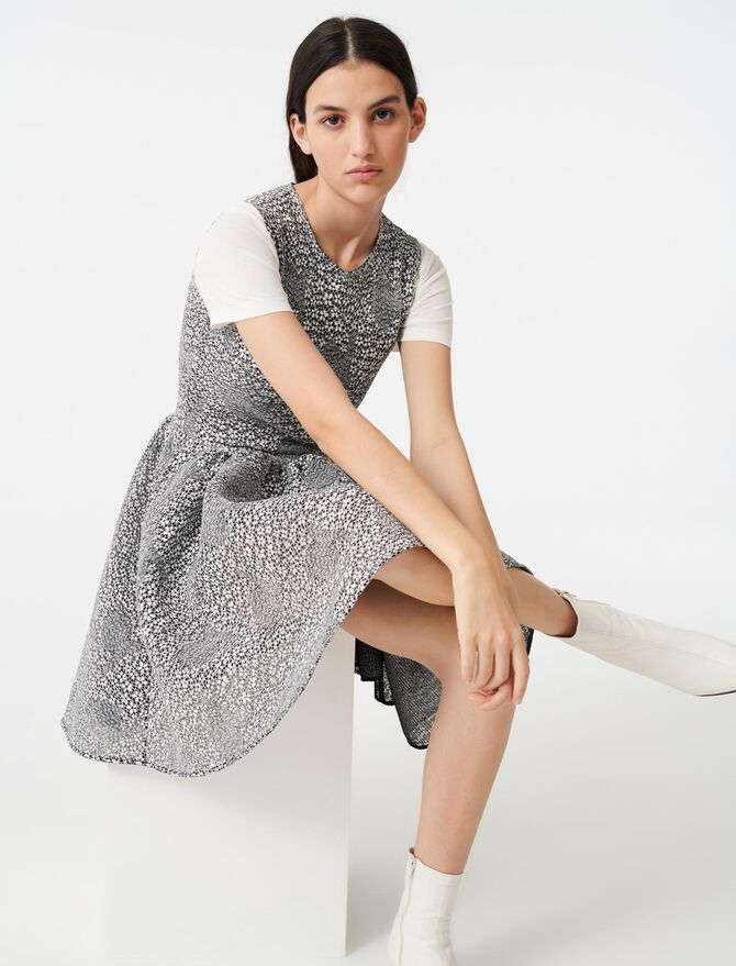 Robe patineuse en maille bicolore - Robes - MAJE