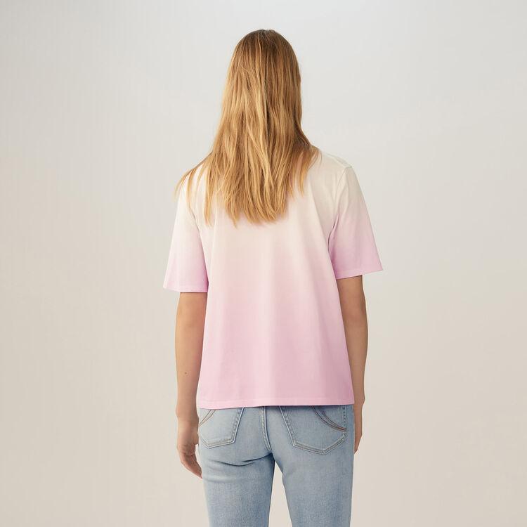 Tee-shirt avec papillon brodé : T-Shirts couleur LILA