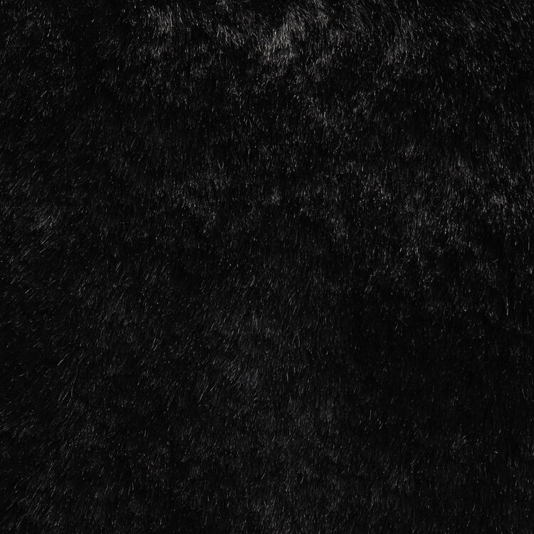 Sac M en fourrure fantaisie : Sac M couleur Black
