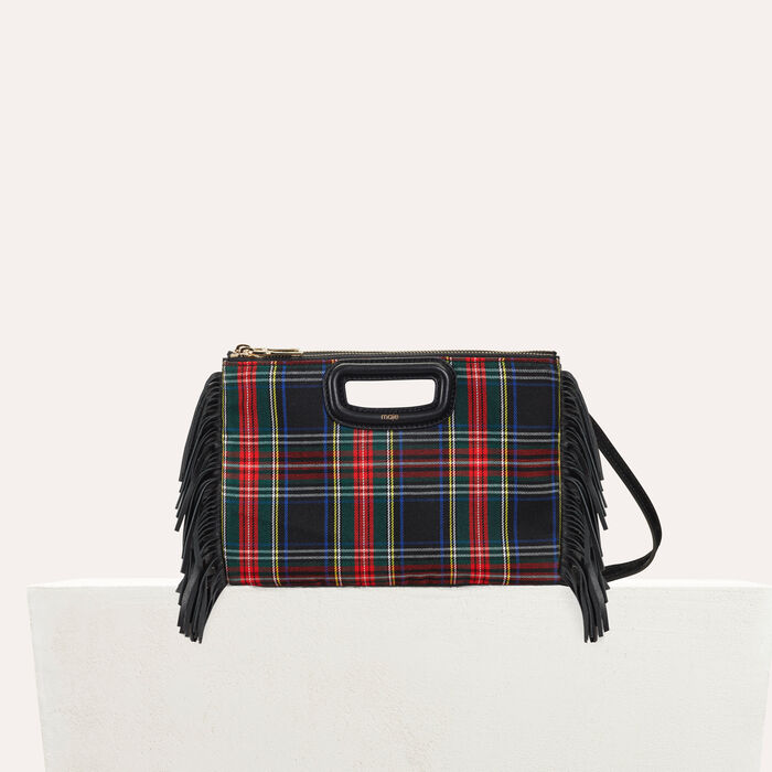 Pochette M Duo en tartan : M Duo couleur BLACK