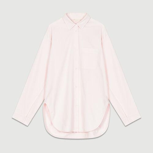 Chemise oversize en jean : Chemises couleur ROSE PALE