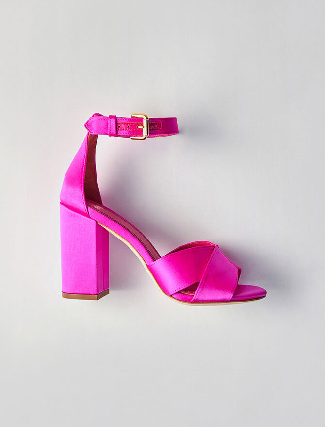 Heeled satin sandals - All Shoes - MAJE