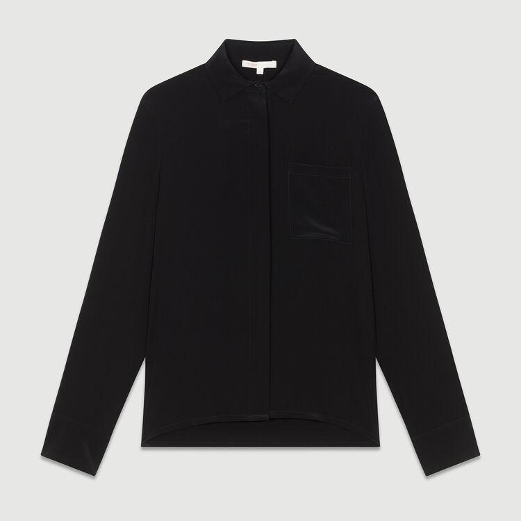 Chemisier en soie : Chemises couleur Black