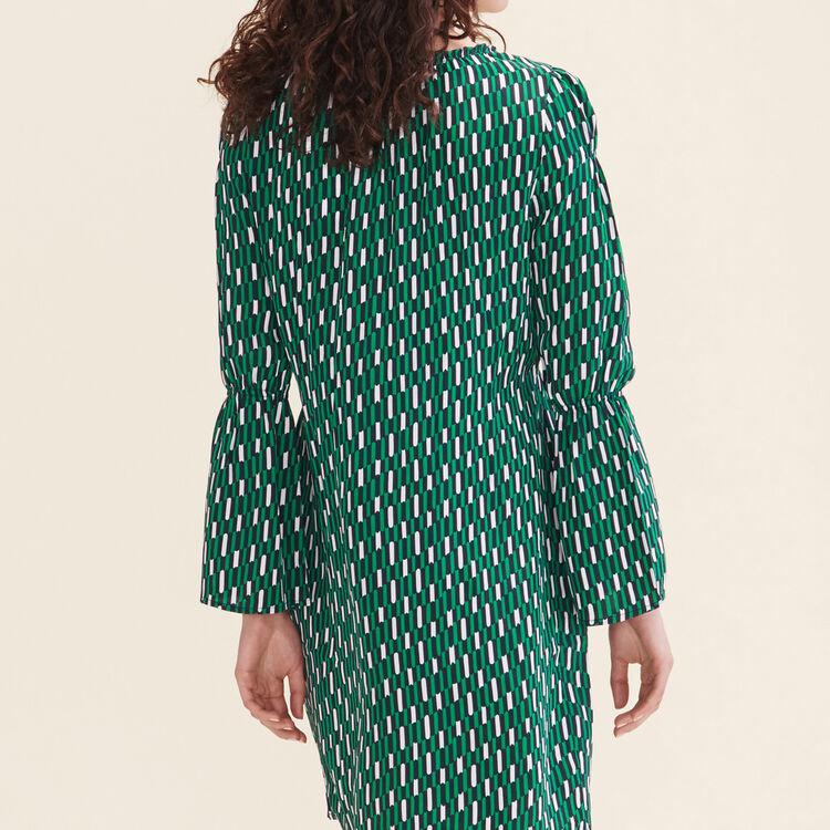 Robe fluide imprimée : Robes couleur IMPRIME