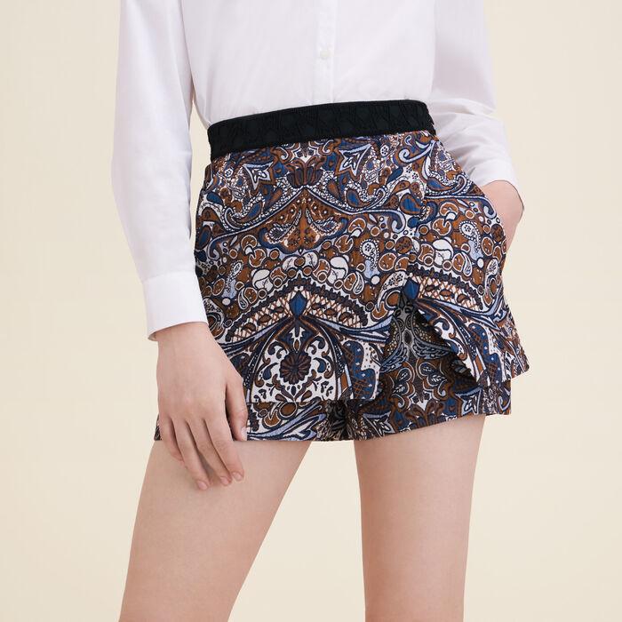 Short effet 2 en 1 en jacquard : Jupes & Shorts couleur Jacquard