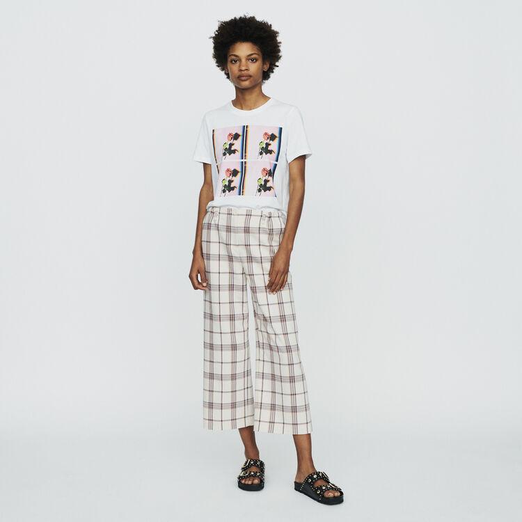 Tee-shirt imprimé : T-Shirts couleur BLANC