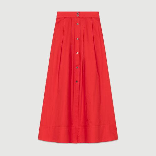 Jupe longue avec short inséré : Jupes & Shorts couleur ROUGE