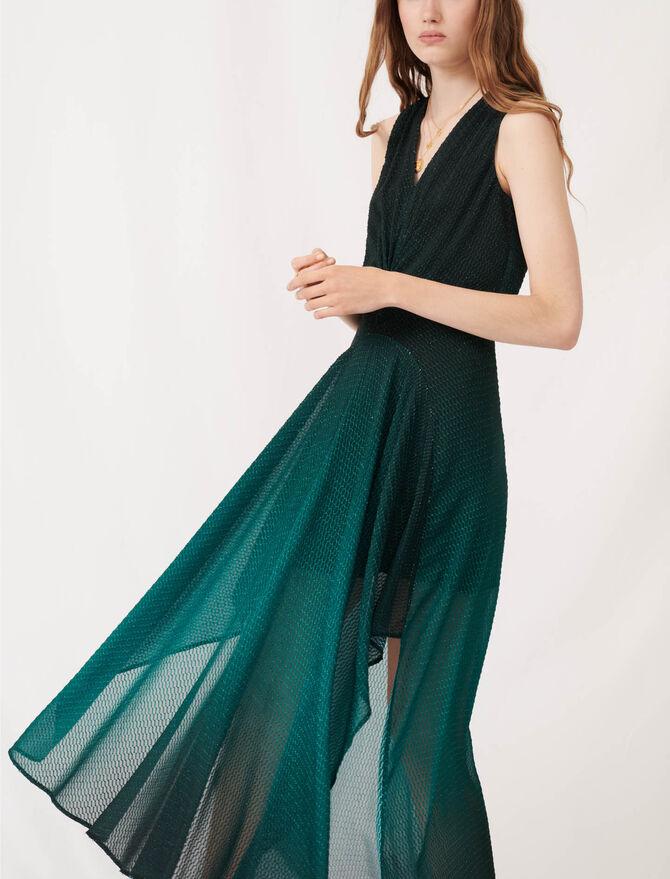 Printed jacquard scarf dress - Dresses - MAJE