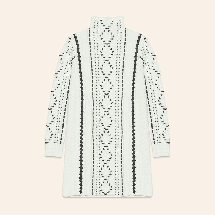 Robe en maille torsadée : Robes couleur ECRU