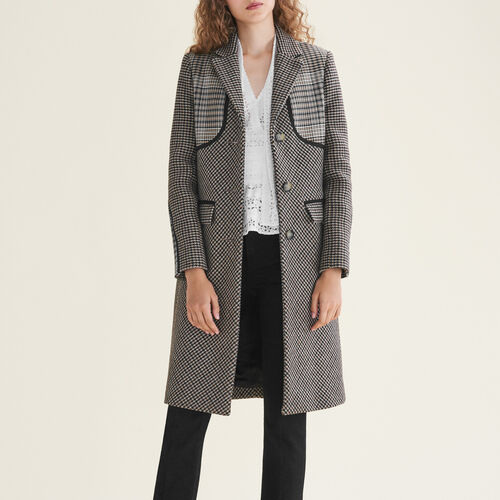Manteau à carreaux : Manteaux couleur Jacquard