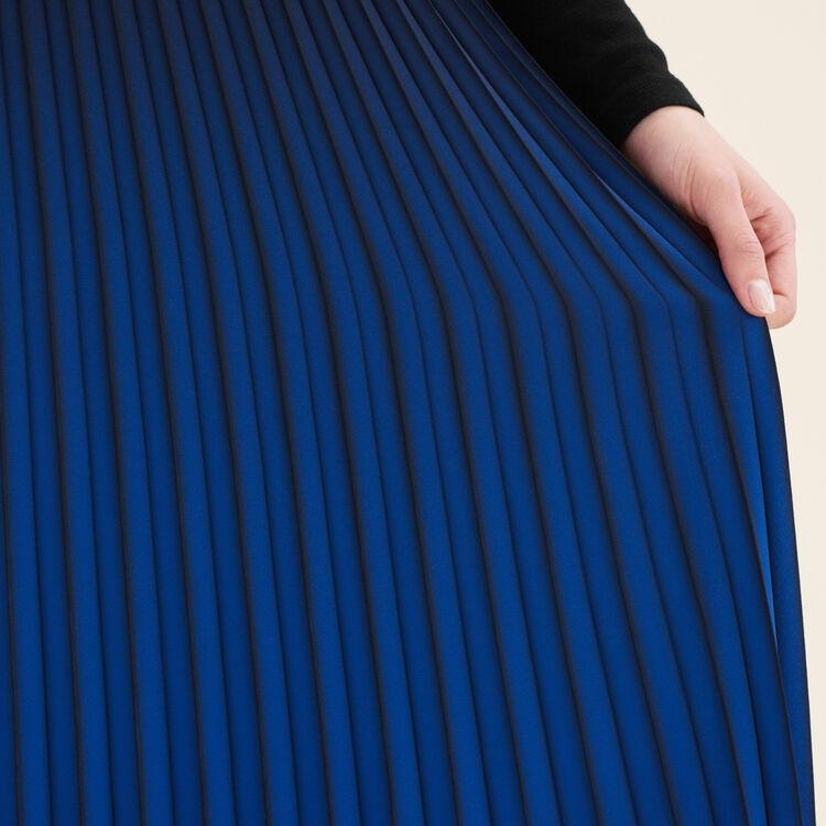 Jupe plissée tie and dye : Jupes & Shorts couleur Indigo