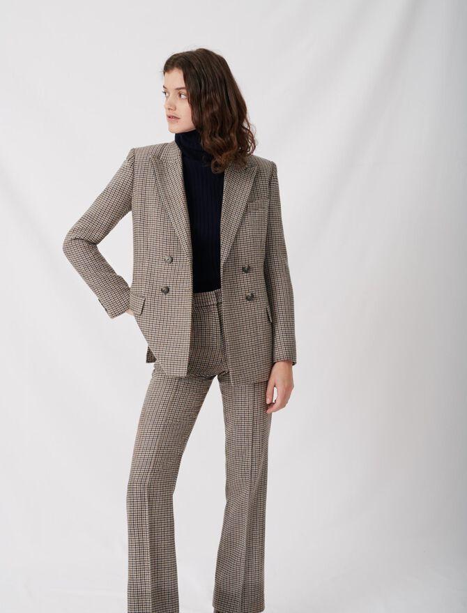 Veste de costume à carreaux - Vestes - MAJE
