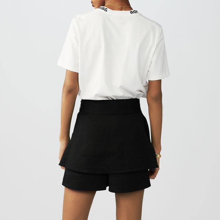 Tee-shirt en coton avec broderies : T-Shirts couleur Blanc