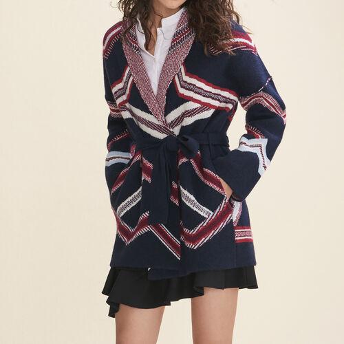 Cardigan en jacquard : Pulls & Cardigans couleur Marine