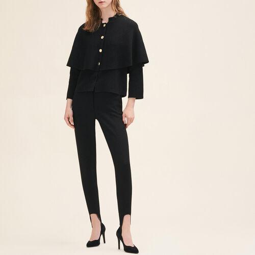 Cardigan court type cape : Pulls & Cardigans couleur Black
