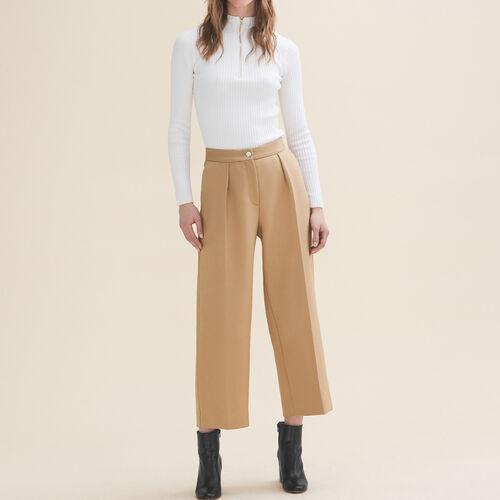 Pantalon de tailleur large : Pantalons & Jeans couleur Camel