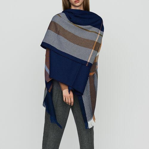 Jacquard poncho : Knitwear color Multico