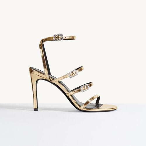 Sandales à talons : Accessoires couleur Gold