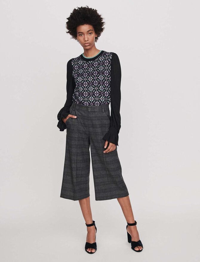Plaid bermuda-style shorts - Trousers & Jeans - MAJE