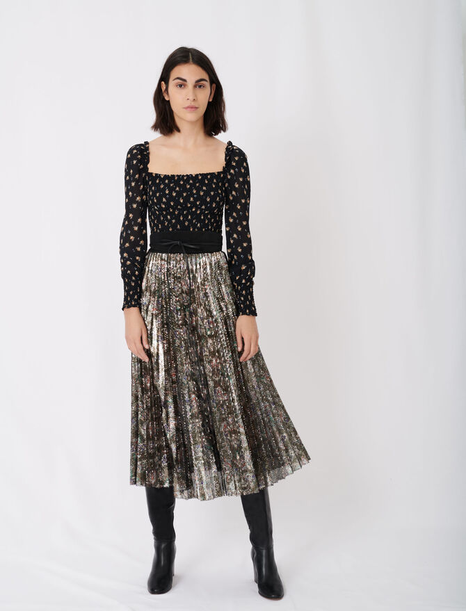 Sequin pleated skirt - New collection - MAJE