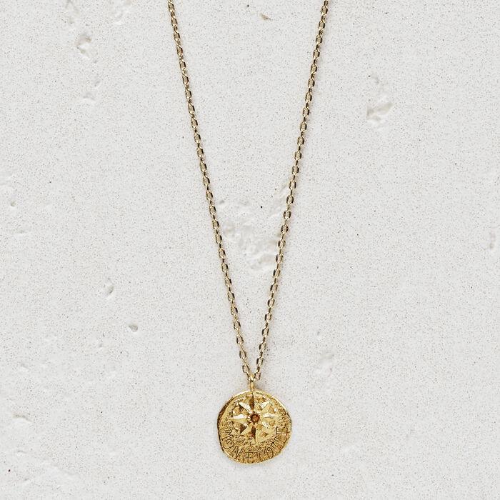"""Collier """"Mon étoile"""" en plaqué or : Bijoux couleur OR"""
