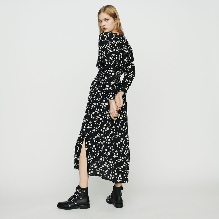 Robe longue à imprimé marguerite : Robes couleur IMPRIME