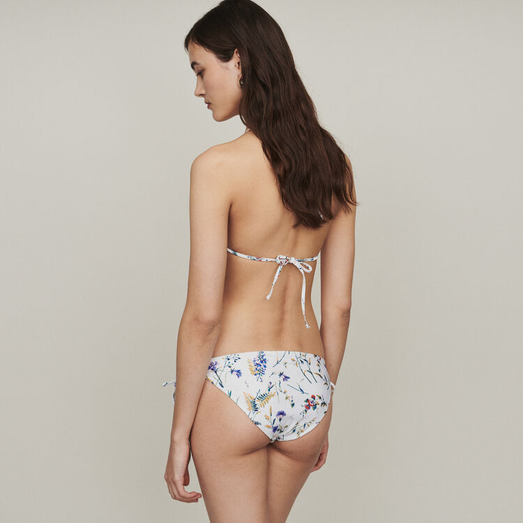 Printed triangle two-piece swimsuit : Beachwear color Printed