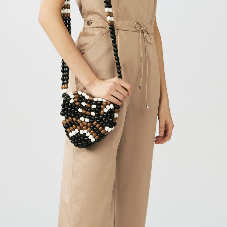 Salopette en toile de coton : Pantalons couleur Beige
