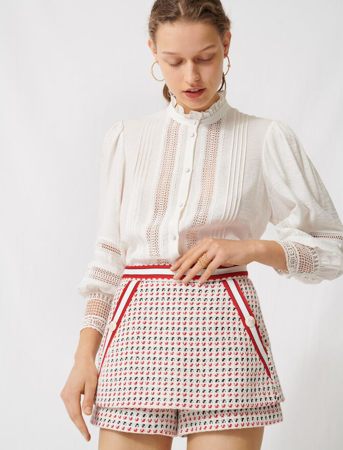 Jupe-short trompe-l'œil façon tweed - Jupes & Shorts - MAJE