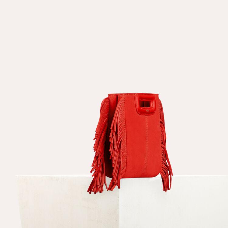 Sac M Mini en suède avec chaine : M Mini couleur Rouge