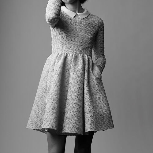 Basket knitted dress : Dresses color Blue Sky