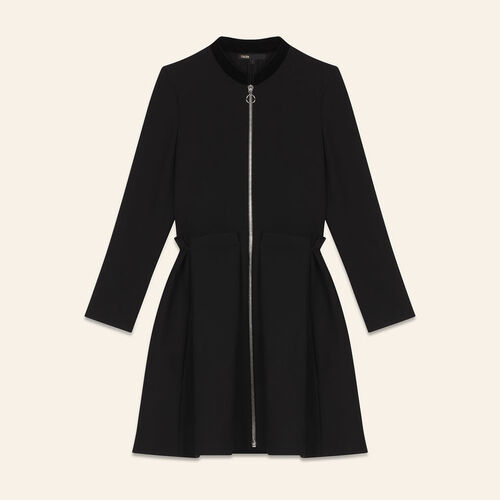 Robe zippée : Robes couleur BLACK