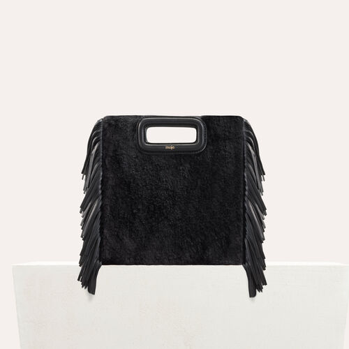 M bag in novelty fur : Leather color Black 210