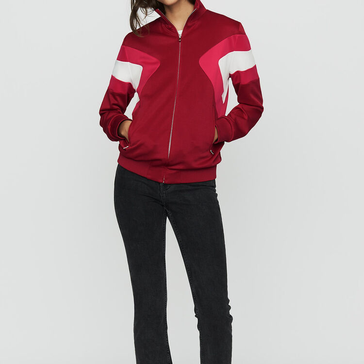 Sweat shirt sportswear : Vestes couleur Framboise