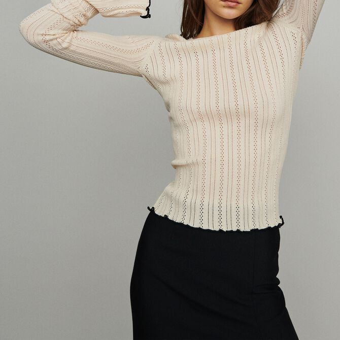 Sweater with pointelle knit - See all - MAJE