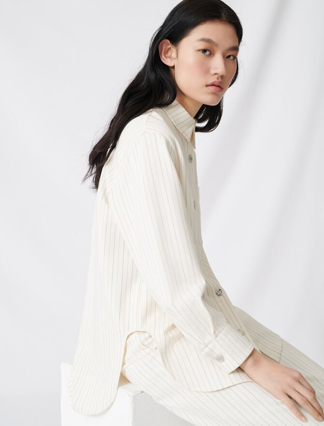 Chemise oversize à rayures - Tops & Chemises - MAJE