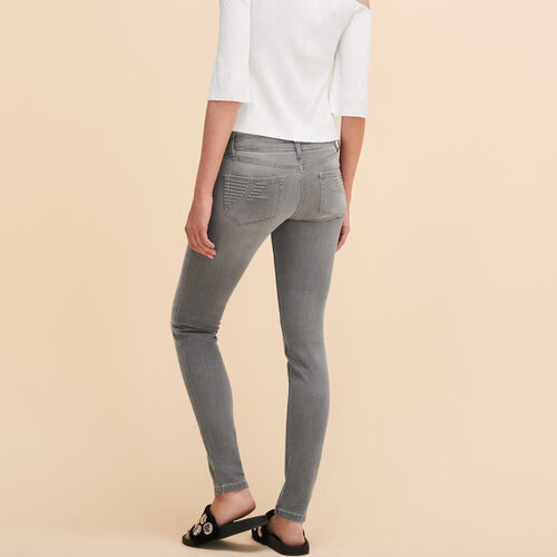 Skinny jeans : Trousers & Jeans color Grey
